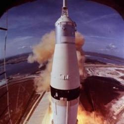 Liftoff of Apollo 11 on July 16, 1969