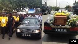 Funeral de Ganga, militante CASA-CE