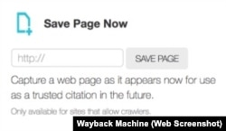 Wayback Machine Save Page