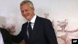 Bruno Le Maire, le ministre français de l'Economie à Athènes, le 12 juin 2017.
