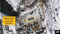 Δορυφορική φωτογραφία των πυρηνικών εγκαταστάσεων Πανγκι-Ρί της Βόρειας Κορέας