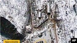 Ảnh cở sở thử nghiệm hạt nhân Punggye-ri của Bắc Triều Tiên do vệ tinh chụp này 4/1/2013.