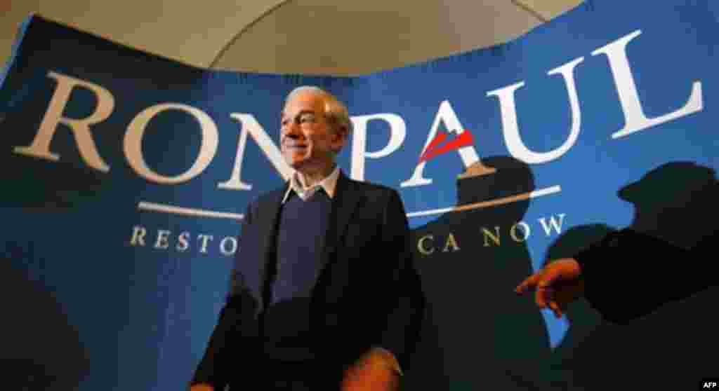 Republican presidential candidate, Rep. Ron Paul, R-Texas, campaigns in Bangor, Maine, Friday, Jan. 27, 2012. (AP Photo/Robert F. Bukaty)