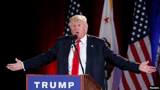 Mgombea urais wa Republican, Donald Trump.