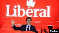 Justin Trudeau du parti libéral au Canada, le 20 octobre 2015. (VOA)