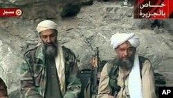 Osama bin Laden (trái) và al-Zawahri (ảnh tư liệu)