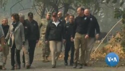 Trump Tours Site of Devastating California Fire