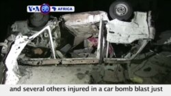 VOA60 Africa -Somalia: At least three people were killed and several others injured in a car bomb blast