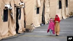 خیمههای مهاجرین افغان در پایگاه ریمستاین آلمان