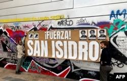 En varios países del mundo, cubanos emigrados se manifestaron en apoyo al Movimiento San Isidro. Barcelona, España, 24 de noviembre de 2020.