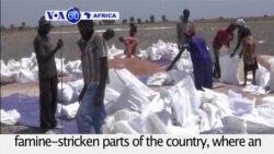 VOA60 Africa - UN begins food distribution to famine-stricken parts of South Sudan