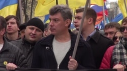 Watch Video of Nemtsov Rallying for Ukraine Peace