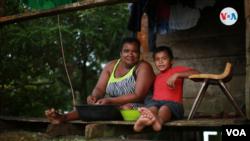 Ana Ventura Hodgson, una de las indígenas que habita en Rama Cay. Foto Houston Castillo, VOA