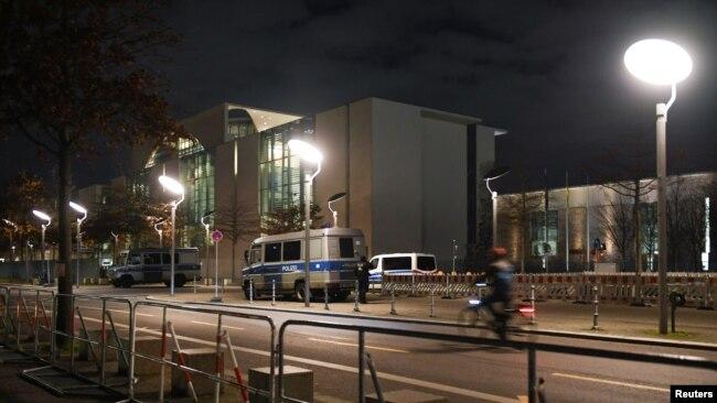 利比亚国际峰会前夕,德国总理府加强了安全戒备(1月18日)。