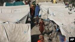 Внутренние беженцы в Афганистане. Кабул, август 2021 г.