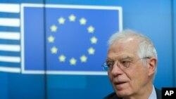 Kepala Kebijakan Luar Negeri Uni Eropa, Josep Borrell di Brussels, 16 Juni 2020. (Foto: dok).
