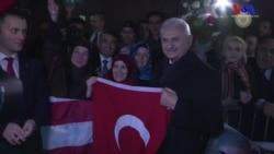 Amerikalı Türkler New York'ta Başbakan Yıldırım'ı Karşıladı