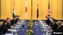 美日澳印四國外長2020年10月在東京會面(路透社)