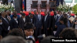 Appointment ceremony of Henry as prime minister in Port-au-Prince, July 21, 2021.
