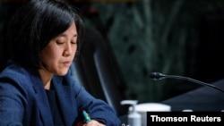 Katherine C. Tai testifies before Senate Finance Committee in Washington.
