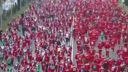 Масовна дедомразовска трка низ Мадрид