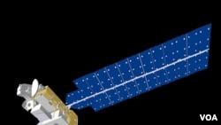 FILE - An artist's conception of NASA's Aura satellite in orbit.