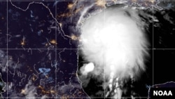 Tropical Storm Nicholas is strengthening early Monday as it travels up the western Gulf Coast, Sept. 13, 2021. (Image Credit: NOAA)