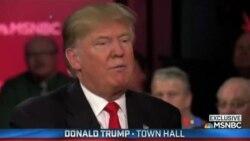 共和黨總統參選人川普因墮胎問題受到質疑