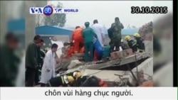 Sập nhà đang sửa ở TQ, hàng chục người bị chôn vùi (VOA60)