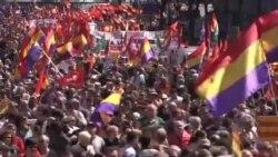 數千人抗議西班牙的君主制