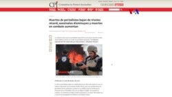 CPJ: Disminuyen asesinatos de periodistas