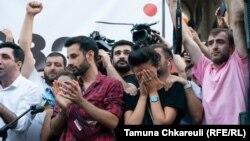 Protesti u Gruziji nakon smrti snimatelja Aleksandera Laškarava, 11. juli 2021.
