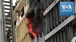 Incendie dans le quartier des affaires de Lagos