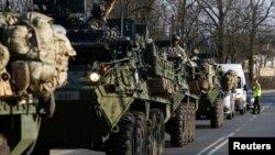Quân đội Mỹ di chuyển từ Đức tới Ba Lan trong một chiến dịch của NATO vào tháng 3/2017.