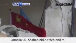 Al-Shabab nhận trách nhiệm vụ đánh bom khách sạn Mogadishu (VOA60)