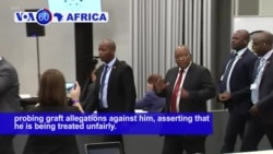 VOA60 Africa - Zuma Withdraws From South African Corruption Inquiry