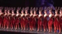 As Rockettes abrem temporada de Natal em Nova Iorque