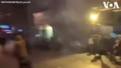 Polis Tehranda Əmir Kəbir Universitetinin qarşısında etirazçılara qarşı gözyaşardıcı qazdan istifadə edib