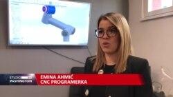 Mlada Sarajka radi na proizvodnji robota
