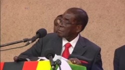 "Zimbabwe President Invokes 'Enough Is Enough"" Slogan Back On Protestors"