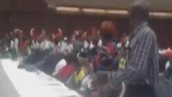 Zanu PF Youth Chant slogan 'Pasi NaMugabe ... Down With Mugabe'