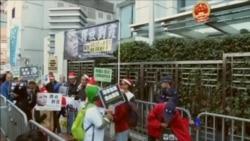 聖誕日香港人權活動人士紀念劉曉波