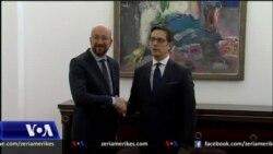 Presidenti i Këshillit Evropian Charles Michel, takime me zyrtarët në Shkup