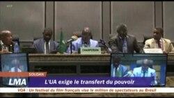 Soudan: l'UA exige le transfert du pouvoir aux civils