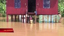 Campuchia: Lũ lụt nhận chìm nhiều làng mạc