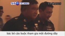 Sĩ quan Thái bị cáo buộc tham gia đường dây buôn người (VOA60)