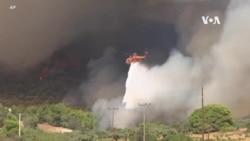 希臘消防員繼續與山火搏鬥