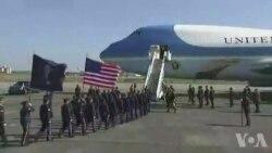Trump arrive au Japon (vidéo)
