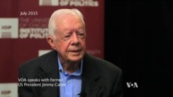 Carter Speaks to VOA about book, guinea worm