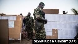 Un militaire à Ouagadougou, le 21 novembre 2020.